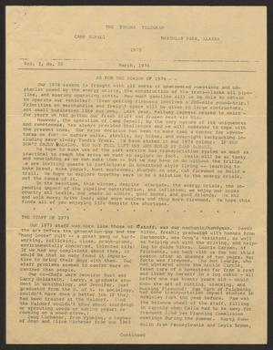 Tundra Telegram, Volume 1, Issue 22, March 1974