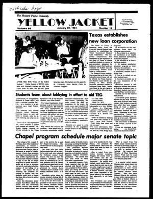 The Howard Payne University Yellow Jacket (Brownwood, Tex.), Vol. 68, No. 16, Ed. 1, Friday, January 30, 1981