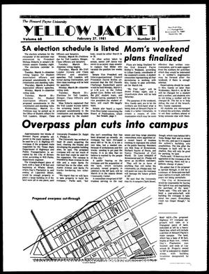 The Howard Payne University Yellow Jacket (Brownwood, Tex.), Vol. 68, No. 20, Ed. 1, Friday, February 27, 1981