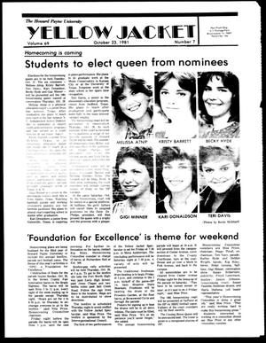 The Howard Payne University Yellow Jacket (Brownwood, Tex.), Vol. 69, No. 7, Ed. 1, Friday, October 23, 1981