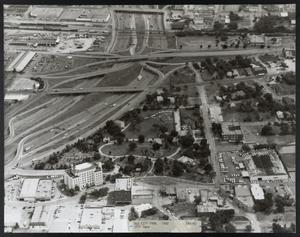 Primary view of object titled '[Aerial View of City Park and Surrounding Area]'.