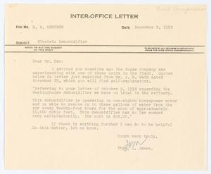 Primary view of object titled '[Letter from Thos. L. James to D. W. Kempner, December 2, 1952]'.