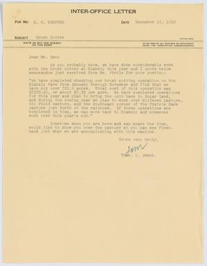 [Letter from Thos. L. James to D. W. Kempner, December 11, 1952]