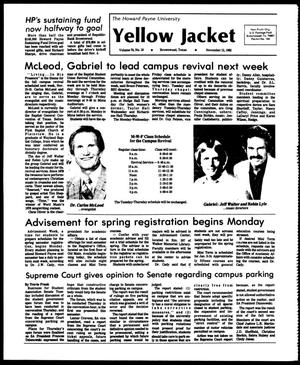 Primary view of object titled 'The Howard Payne University Yellow Jacket (Brownwood, Tex.), Vol. 70, No. 10, Ed. 1, Friday, November 12, 1982'.