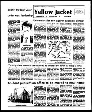 Primary view of object titled 'The Howard Payne University Yellow Jacket (Brownwood, Tex.), Vol. 70, No. 13, Ed. 1, Friday, January 28, 1983'.
