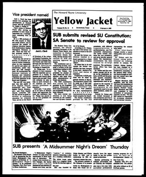 Primary view of object titled 'The Howard Payne University Yellow Jacket (Brownwood, Tex.), Vol. 70, No. 14, Ed. 1, Friday, February 4, 1983'.
