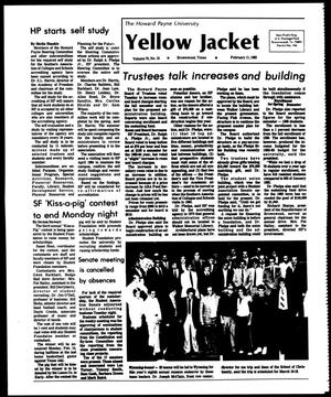 Primary view of object titled 'The Howard Payne University Yellow Jacket (Brownwood, Tex.), Vol. 70, No. 15, Ed. 1, Friday, February 11, 1983'.