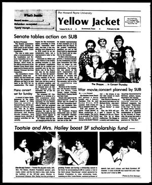 The Howard Payne University Yellow Jacket (Brownwood, Tex.), Vol. 70, No. 16, Ed. 1, Friday, February 18, 1983