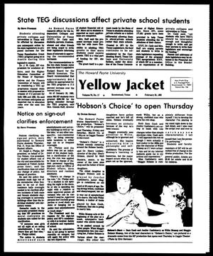 Primary view of object titled 'The Howard Payne University Yellow Jacket (Brownwood, Tex.), Vol. 70, No. 17, Ed. 1, Friday, February 25, 1983'.