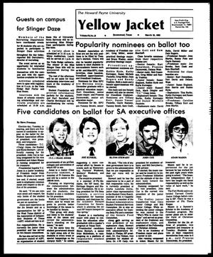 Primary view of object titled 'The Howard Payne University Yellow Jacket (Brownwood, Tex.), Vol. 70, No. 19, Ed. 1, Friday, March 25, 1983'.
