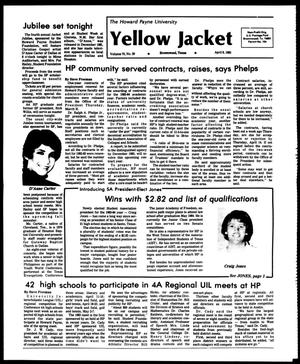 Primary view of object titled 'The Howard Payne University Yellow Jacket (Brownwood, Tex.), Vol. 70, No. 20, Ed. 1, Friday, April 8, 1983'.