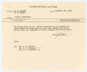 [Letter from Thos. L. James to C. A. Coburn and C. L. Jones, November 20, 1952]