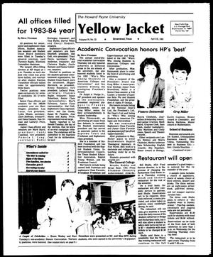 Primary view of object titled 'The Howard Payne University Yellow Jacket (Brownwood, Tex.), Vol. 70, No. 22, Ed. 1, Friday, April 22, 1983'.