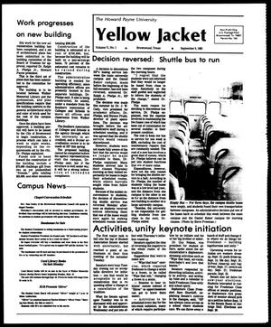 Primary view of object titled 'The Howard Payne University Yellow Jacket (Brownwood, Tex.), Vol. 71, No. 1, Ed. 1, Friday, September 9, 1983'.