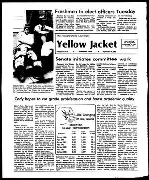 Primary view of object titled 'The Howard Payne University Yellow Jacket (Brownwood, Tex.), Vol. 71, No. 2, Ed. 1, Friday, September 16, 1983'.