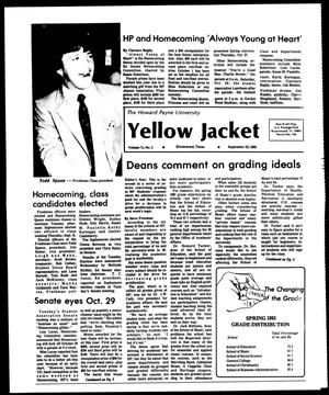 Primary view of object titled 'The Howard Payne University Yellow Jacket (Brownwood, Tex.), Vol. 71, No. 3, Ed. 1, Friday, September 23, 1983'.