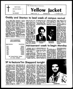 Primary view of object titled 'The Howard Payne University Yellow Jacket (Brownwood, Tex.), Vol. 71, No. 10, Ed. 1, Friday, November 11, 1983'.