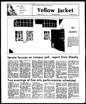 Primary view of object titled 'The Howard Payne University Yellow Jacket (Brownwood, Tex.), Vol. 71, No. 11, Ed. 1, Friday, November 18, 1983'.