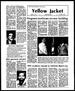 Primary view of object titled 'The Howard Payne University Yellow Jacket (Brownwood, Tex.), Vol. 71, No. 12, Ed. 1, Friday, December 2, 1983'.
