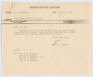Primary view of object titled '[Letter from Thos. L. James to D. W. Kempner, June 25, 1952]'.