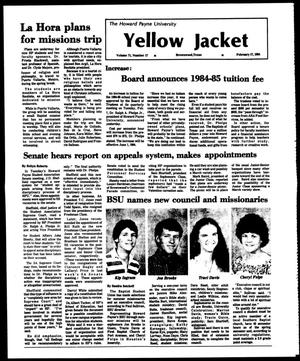 Primary view of object titled 'The Howard Payne University Yellow Jacket (Brownwood, Tex.), Vol. 71, No. 17, Ed. 1, Friday, February 17, 1984'.