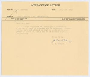 Primary view of object titled '[Letter from J. M. Schrum to D. W. Kempner, July 22, 1954]'.