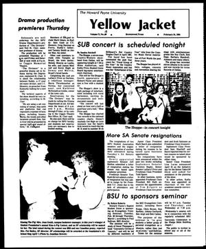 The Howard Payne University Yellow Jacket (Brownwood, Tex.), Vol. 71, No. 18, Ed. 1, Friday, February 24, 1984