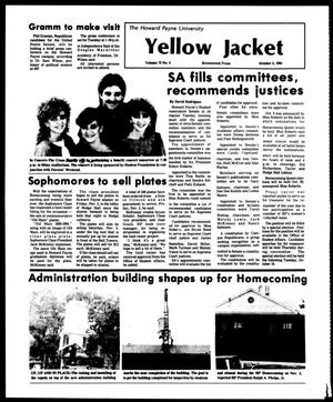 Primary view of object titled 'The Howard Payne University Yellow Jacket (Brownwood, Tex.), Vol. 72, No. 4, Ed. 1, Friday, October 5, 1984'.