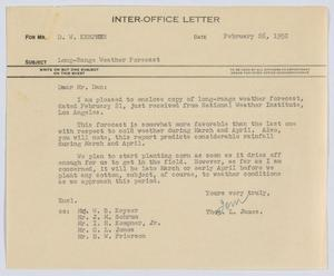 Primary view of object titled '[Letter from Thos. L. James to D. W. Kempner, February 26, 1952]'.