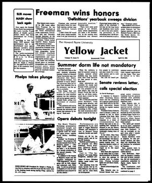 Primary view of object titled 'The Howard Payne University Yellow Jacket (Brownwood, Tex.), Vol. 72, No. 21, Ed. 1, Friday, April 19, 1985'.