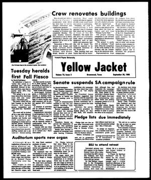 Primary view of object titled 'The Howard Payne University Yellow Jacket (Brownwood, Tex.), Vol. 73, No. 2, Ed. 1, Friday, September 20, 1985'.
