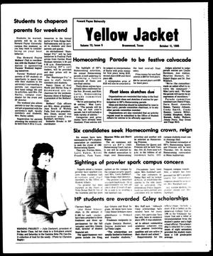 Primary view of object titled 'The Howard Payne University Yellow Jacket (Brownwood, Tex.), Vol. 73, No. 5, Ed. 1, Friday, October 11, 1985'.