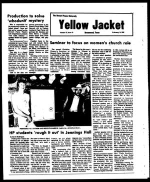 Primary view of object titled 'The Howard Payne University Yellow Jacket (Brownwood, Tex.), Vol. 73, No. 15, Ed. 1, Friday, February 14, 1986'.