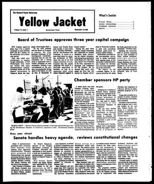 Primary view of object titled 'The Howard Payne University Yellow Jacket (Brownwood, Tex.), Vol. 74, No. 1, Ed. 1, Friday, September 12, 1986'.