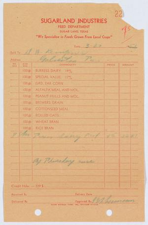 Primary view of object titled '[April 1953 Monthly Statement for D. W. Kempner]'.
