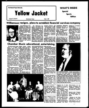 Primary view of object titled 'The Howard Payne University Yellow Jacket (Brownwood, Tex.), Vol. 74, No. 24, Ed. 1, Friday, May 1, 1987'.