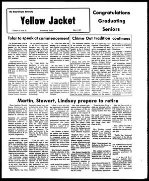 Primary view of object titled 'The Howard Payne University Yellow Jacket (Brownwood, Tex.), Vol. 74, No. 25, Ed. 1, Friday, May 8, 1987'.