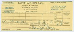 Primary view of [Receipt for Travel Expenses]