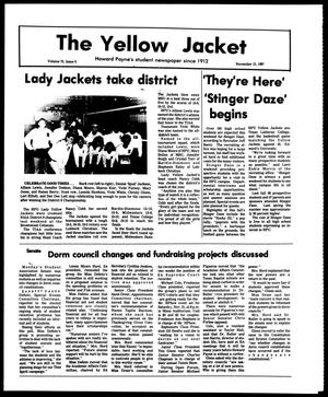 Primary view of object titled 'The Yellow Jacket (Brownwood, Tex.), Vol. 75, No. 9, Ed. 1, Friday, November 13, 1987'.