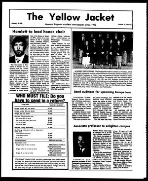 Primary view of object titled 'The Yellow Jacket (Brownwood, Tex.), Vol. 75, No. 13, Ed. 1, Friday, January 29, 1988'.