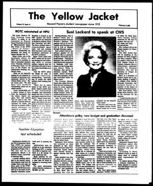 Primary view of object titled 'The Yellow Jacket (Brownwood, Tex.), Vol. 75, No. 14, Ed. 1, Friday, February 5, 1988'.