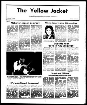 Primary view of object titled 'The Yellow Jacket (Brownwood, Tex.), Vol. 75, No. 16, Ed. 1, Friday, February 19, 1988'.