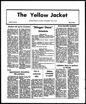 Primary view of object titled 'The Yellow Jacket (Brownwood, Tex.), Vol. 75, No. 20, Ed. 1, Friday, March 18, 1988'.