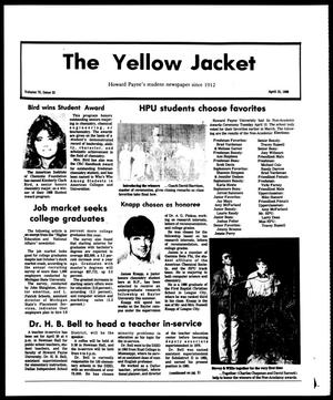 Primary view of object titled 'The Yellow Jacket (Brownwood, Tex.), Vol. 75, No. 23, Ed. 1, Friday, April 15, 1988'.