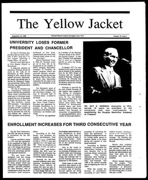 Primary view of object titled 'The Yellow Jacket (Brownwood, Tex.), Vol. 76, No. 1, Ed. 1, Friday, September 16, 1988'.