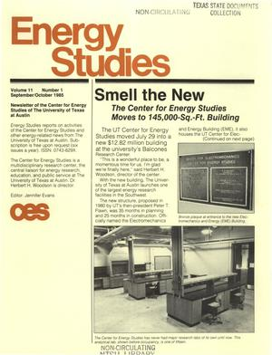 Primary view of object titled 'Energy Studies, Volume 11, Number 1, September/October 1985'.