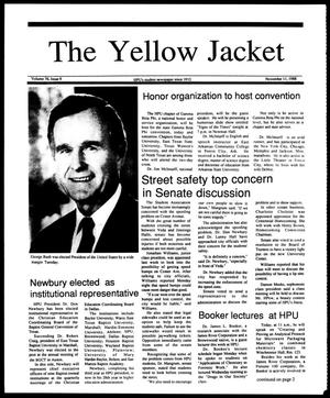 Primary view of object titled 'The Yellow Jacket (Brownwood, Tex.), Vol. 76, No. 9, Ed. 1, Friday, November 11, 1988'.
