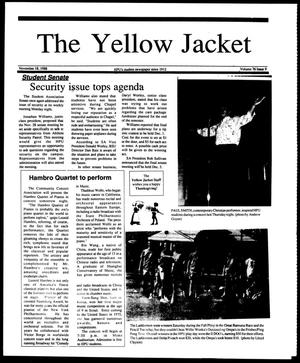 Primary view of object titled 'The Yellow Jacket (Brownwood, Tex.), Vol. 76, No. 9, Ed. 1, Friday, November 18, 1988'.