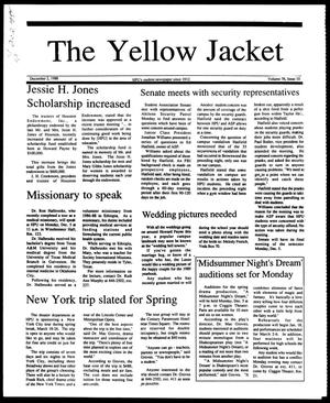 Primary view of object titled 'The Yellow Jacket (Brownwood, Tex.), Vol. 76, No. 10, Ed. 1, Friday, December 2, 1988'.