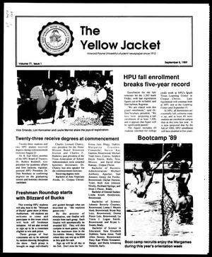 Primary view of object titled 'The Yellow Jacket (Brownwood, Tex.), Vol. 77, No. 1, Ed. 1, Friday, September 8, 1989'.